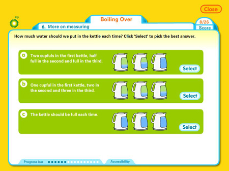 BP Educational Service | Saving energy online experiment
